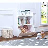 """UTEX Toy Storage Organizer, 40"""" Kids Toy Storage Cubby with Bins,Toy Boxes and Storage for Playroom,Bedroom,Nursery…"""