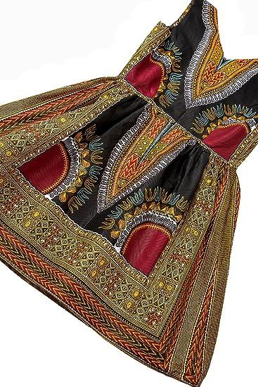 Woman African Print Dashiki Traditional Dress