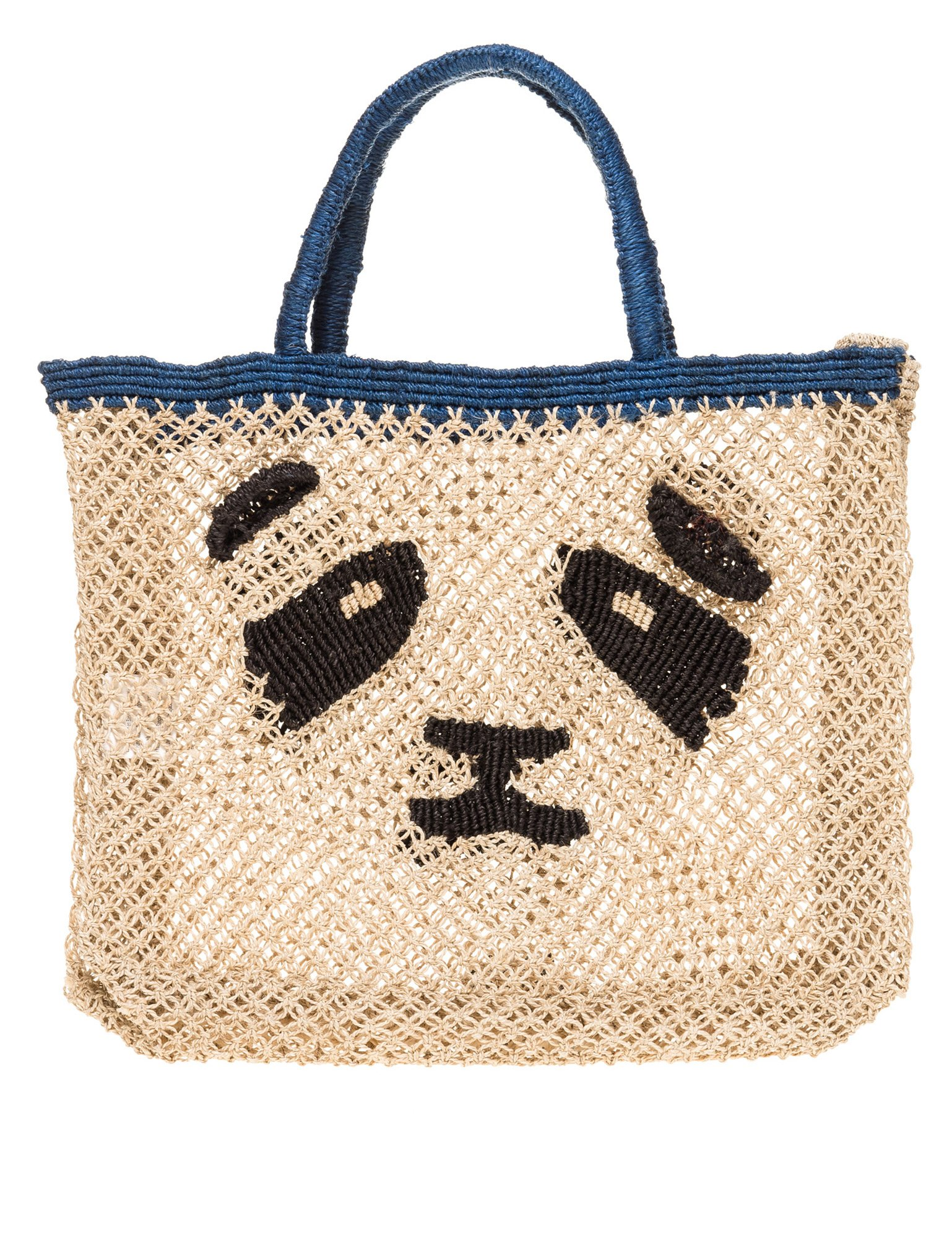 The Jacksons Women's Panda Small Women's Beige Jute Bag Beige