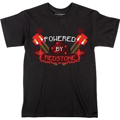bb814d199 Amazon.com: JINX Minecraft Powered by Redstone Boys' Tee Shirt: Clothing