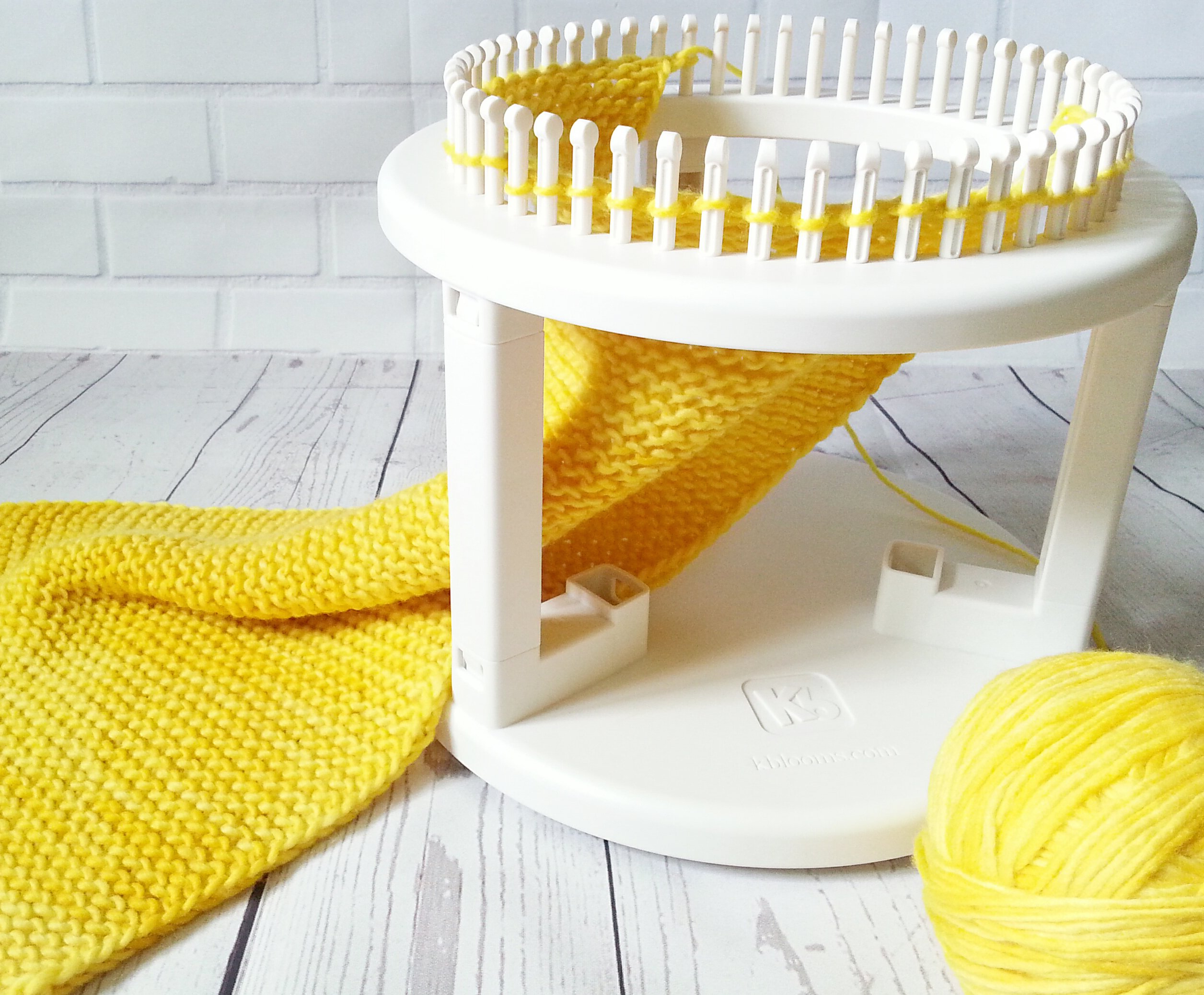 Authentic Knitting Board Rotating Double Knit Loom, Off Off White by Authentic Knitting Board (Image #6)