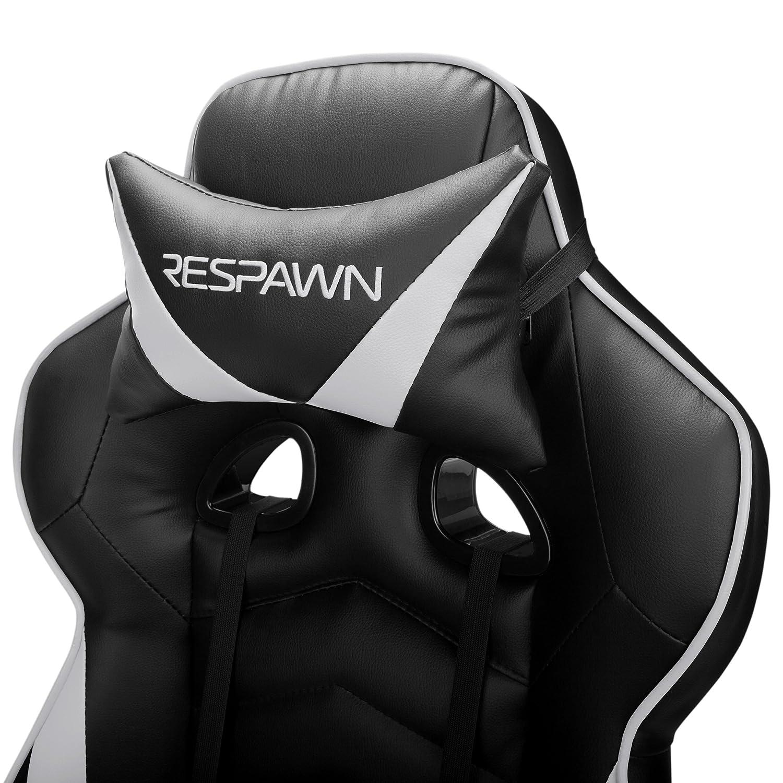 RESPAWN-110 - Silla reclinable de Piel ergonómica con reposapiés, Silla de Oficina o Videojuegos (RSP-110-BLU): Amazon.es: Industria, empresas y ciencia