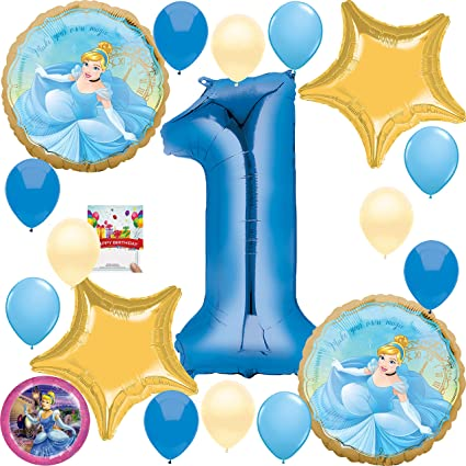Amazon.com: Cinderella Party Supplies - Globo de decoración ...