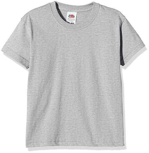 Fruit of the Loom Ss028b, Camiseta para Niñas, Gris (Heather Grey),