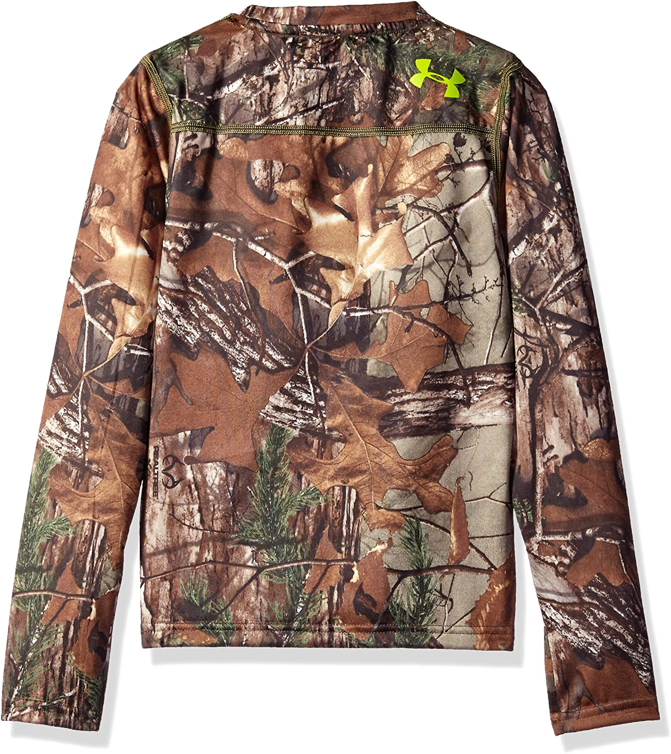 Under Armour Boys Tech Scent Control Long Sleeve T-Shirt Youth Large Realtree Ap-Xtra //Velocity
