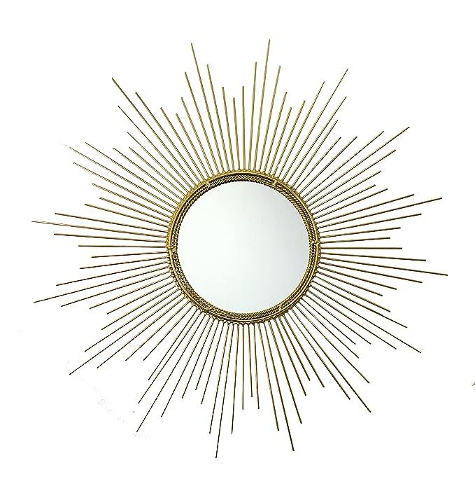 Review Decorative Starburst Mirror,Bathroom Mirrors Contemporary Metal Wall Hanging Mirror in Sunburst Shape (Drop Mirrors) MD102