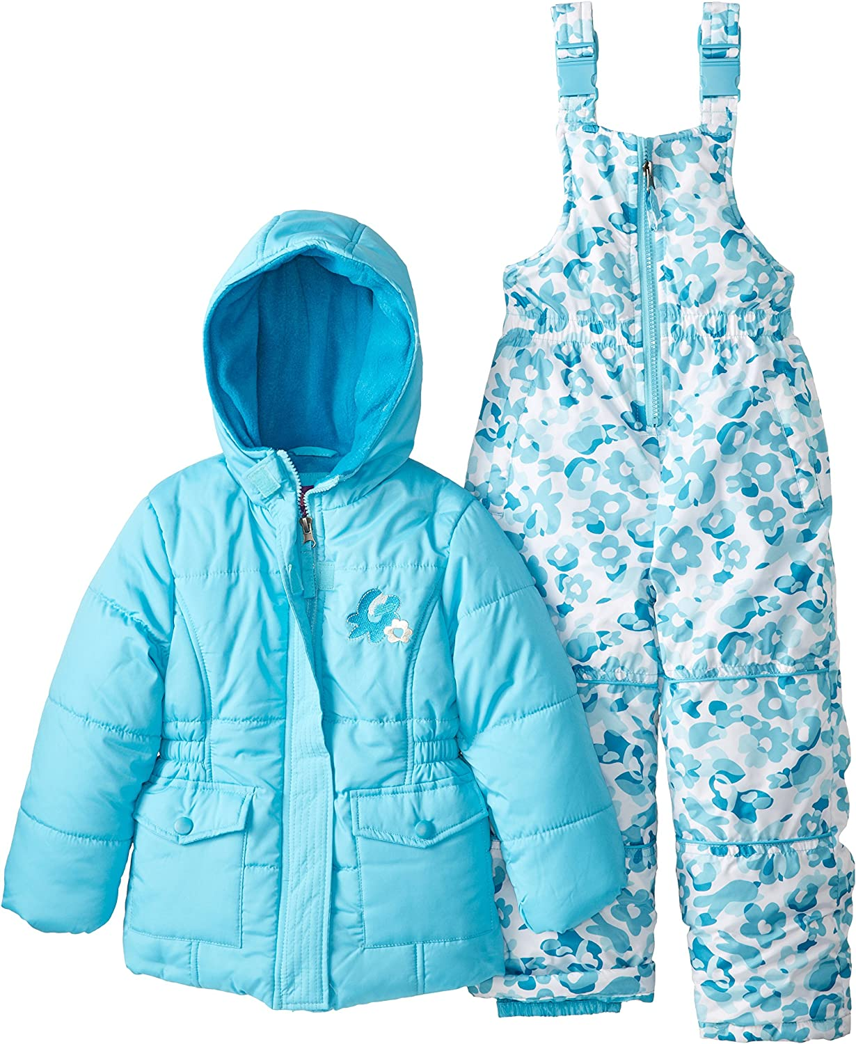 Pink Platinum Girls Insulated Two-Piece Snowsuit