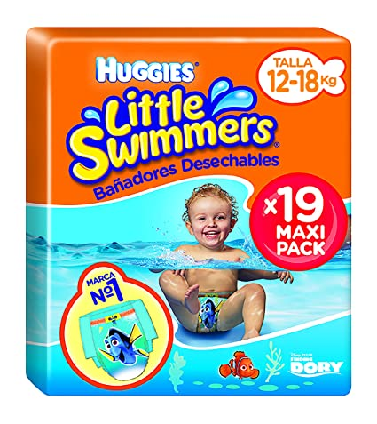 Huggies Little Swimmers - Bañadores Desechables, talla 5-6, 19 unidades