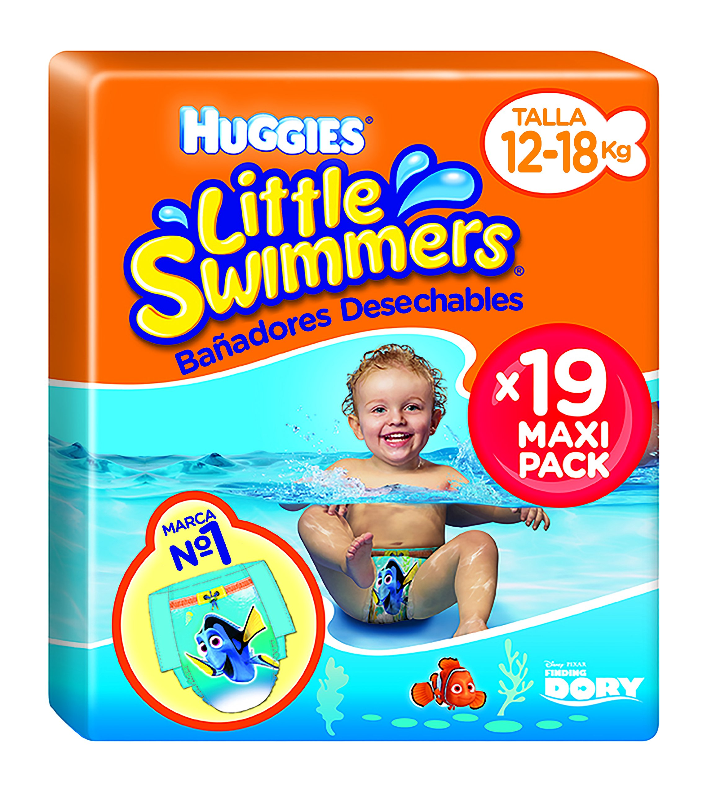 Huggies Little Swimmers - Bañadores Desechables, talla 5-6, 19 unidades product image
