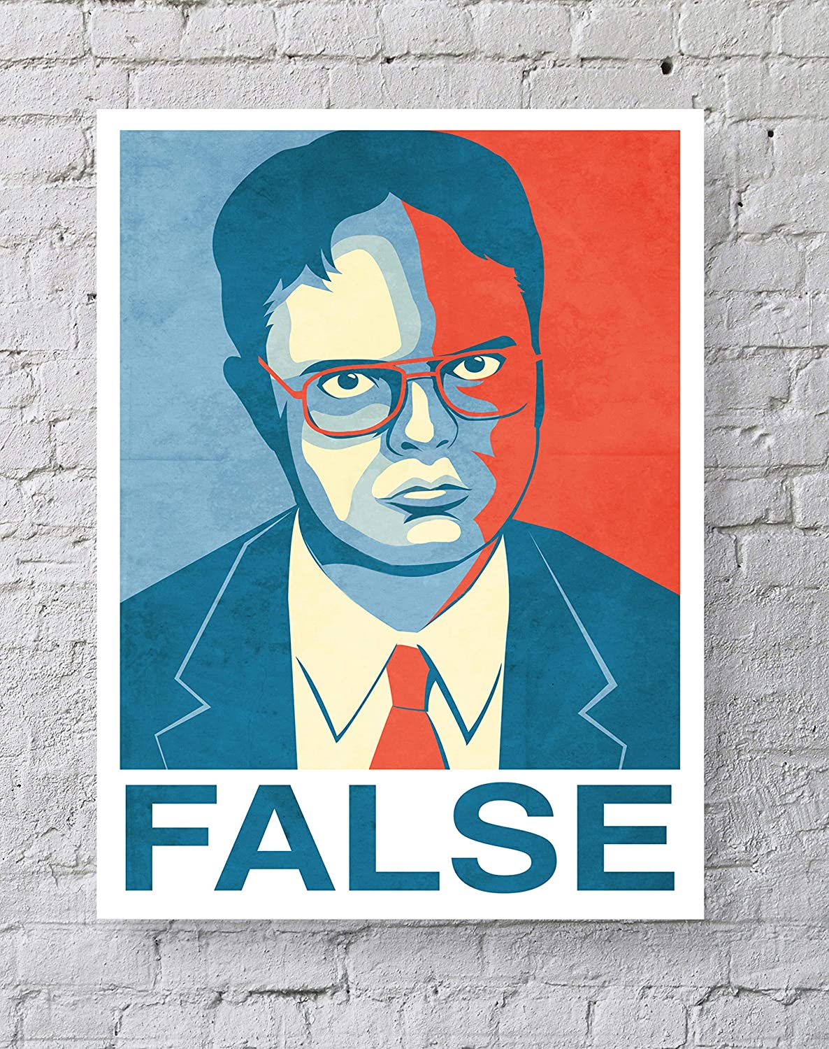 MeiMeiZ False Poster Standard Size | 18-Inches by 24-Inches | False Dwight Schrute The Office Posters Wall Poster Print