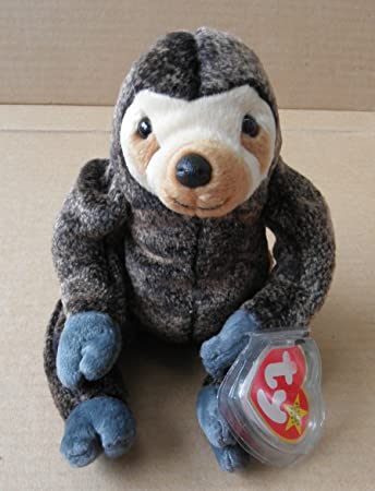 44a361dddc8 Buy TY Beanie Babies Slowpoke the Sloth Stuffed Animal Plush Toy - 6 inches  tall - Dark Light Brown body Online at Low Prices in India - Amazon.in