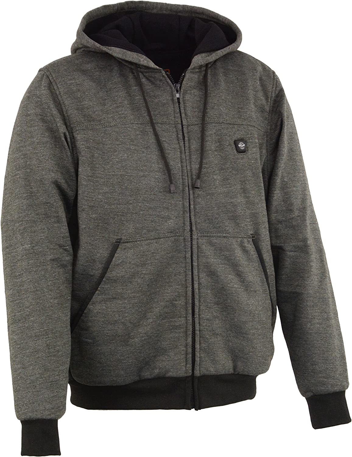 Milwaukee Performance-Mens Heated Hoodie w//Front/&Back Heating Elements-BATTERY PACK INCLUDED-BLACK-3X-LARGE