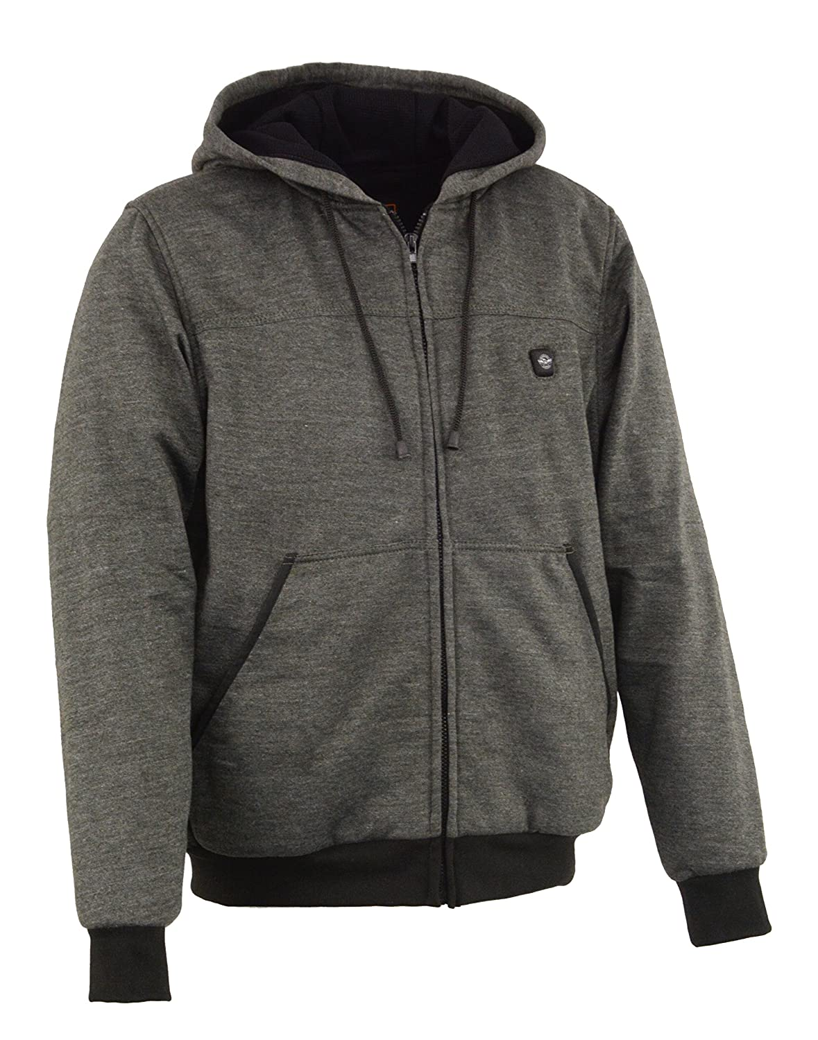Milwaukee Performance-Mens Heated Hoodie w//Front/&Back Heating Elements-BATTERY PACK INCLUDED-GREY-Large