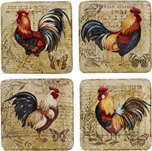 Certified International Gilded Rooster Dinnerware/Tabletop, One Size, Multicolor
