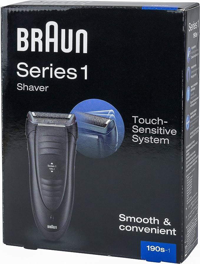Braun Series 1 190S-1 - Afeitadora (Rotación, Negro, Gris, Carga, Batería, Níquel-Hidruro metálico (NiMH), 1h): Amazon.es: Hogar