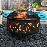"29""- 42"" Lattice Fire Pit Bronze Finish XL Criss Cross Heavy Steel Mesh"
