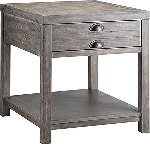 Stein World Furniture Bridgeport Rectangular End Table, Weathered Grey