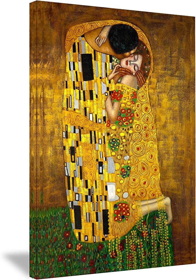 HUGE POSTER The Kiss Klimt Paper Matte Photo Paper or Canvas Canvas