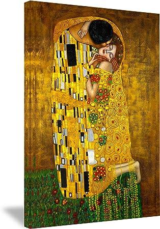 The Kiss 12 x 12 inch on Zweigart Needlepoint Canvas Gustav Klimt
