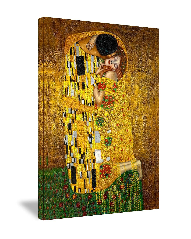 Amazon.com: The Kiss By Gustav Klimt Stretched Canvas Art Print ...
