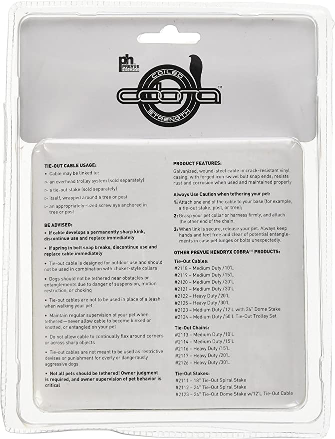 Prevue Pet Products 2114 Medium-Duty 15 Tie-Out Chain