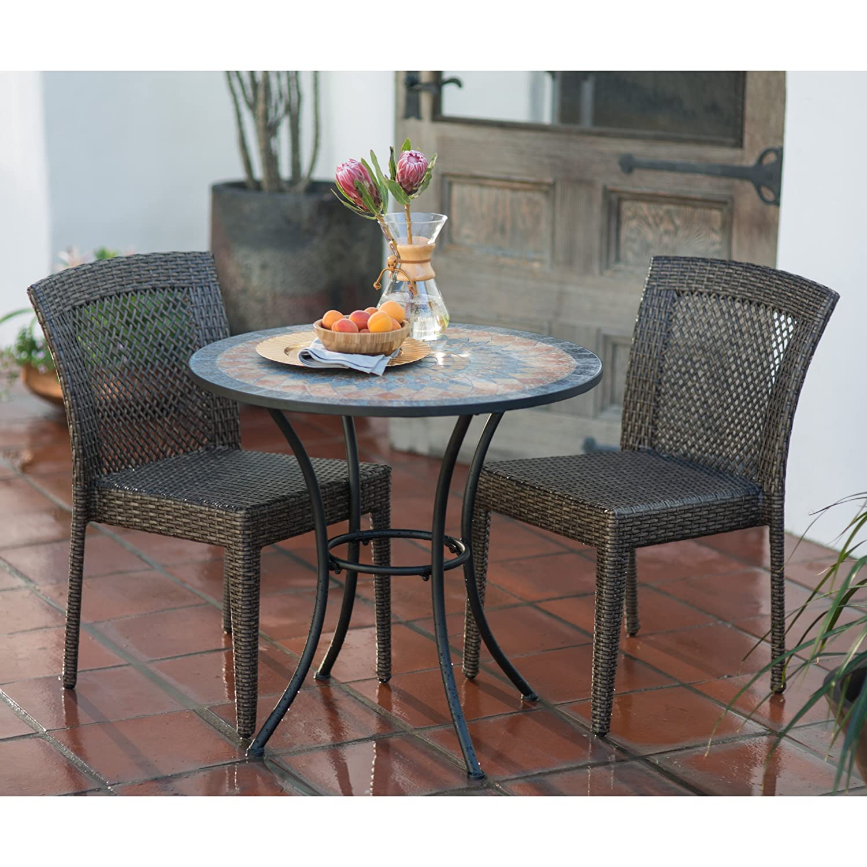 Amazon Contemporary Round Outdoor Bistro Table Mosaic Design