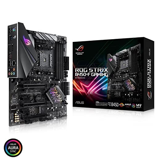 ASUS ROG Strix B450-F Gaming Motherboard (ATX) AMD Ryzen 2 AM4 DDR4 DP HDMI M.2 USB 3.1 Gen2 B450 Motherboards at amazon