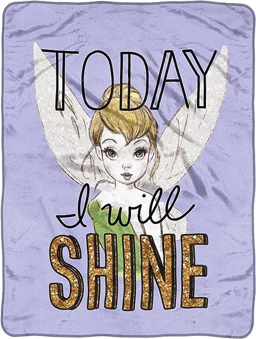 "Disney Tinkerbell Plush Throw Microfiber Blanket Twin Shine Today 46x60/"""