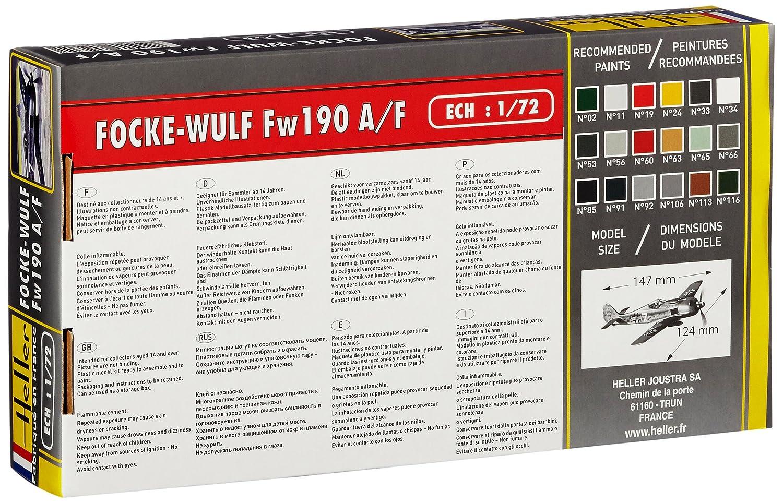 Amazon.com: Heller 1:72 - Focke Wulf Fw 190 A8 / F3: Toys ...