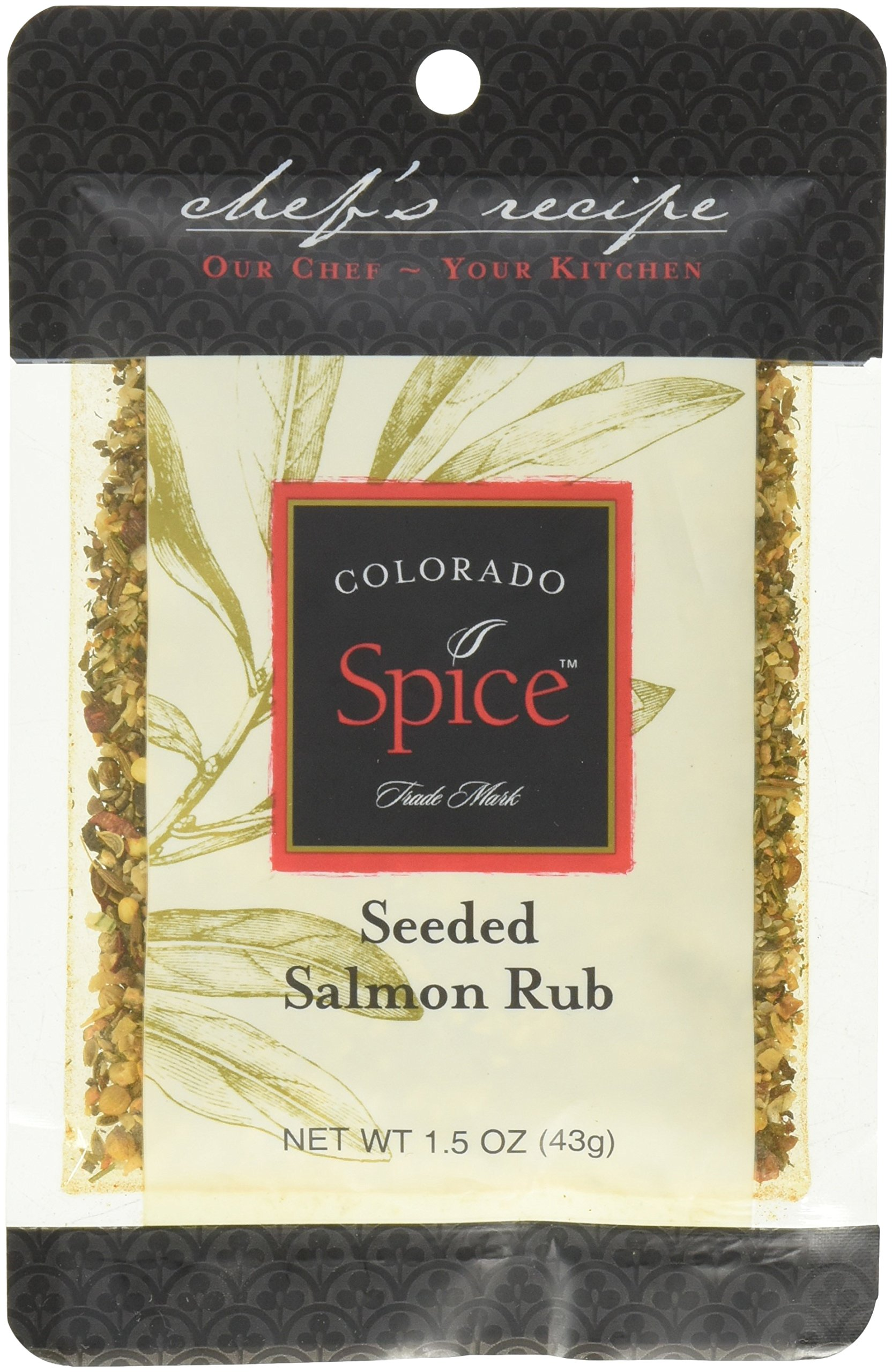 Colorado Spice Seeded Salmon Rub 1.5 ounce packet (Pack of 12)