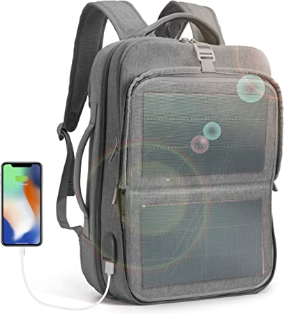 HANERGY Thin Safe Water Proof Solar Backpack