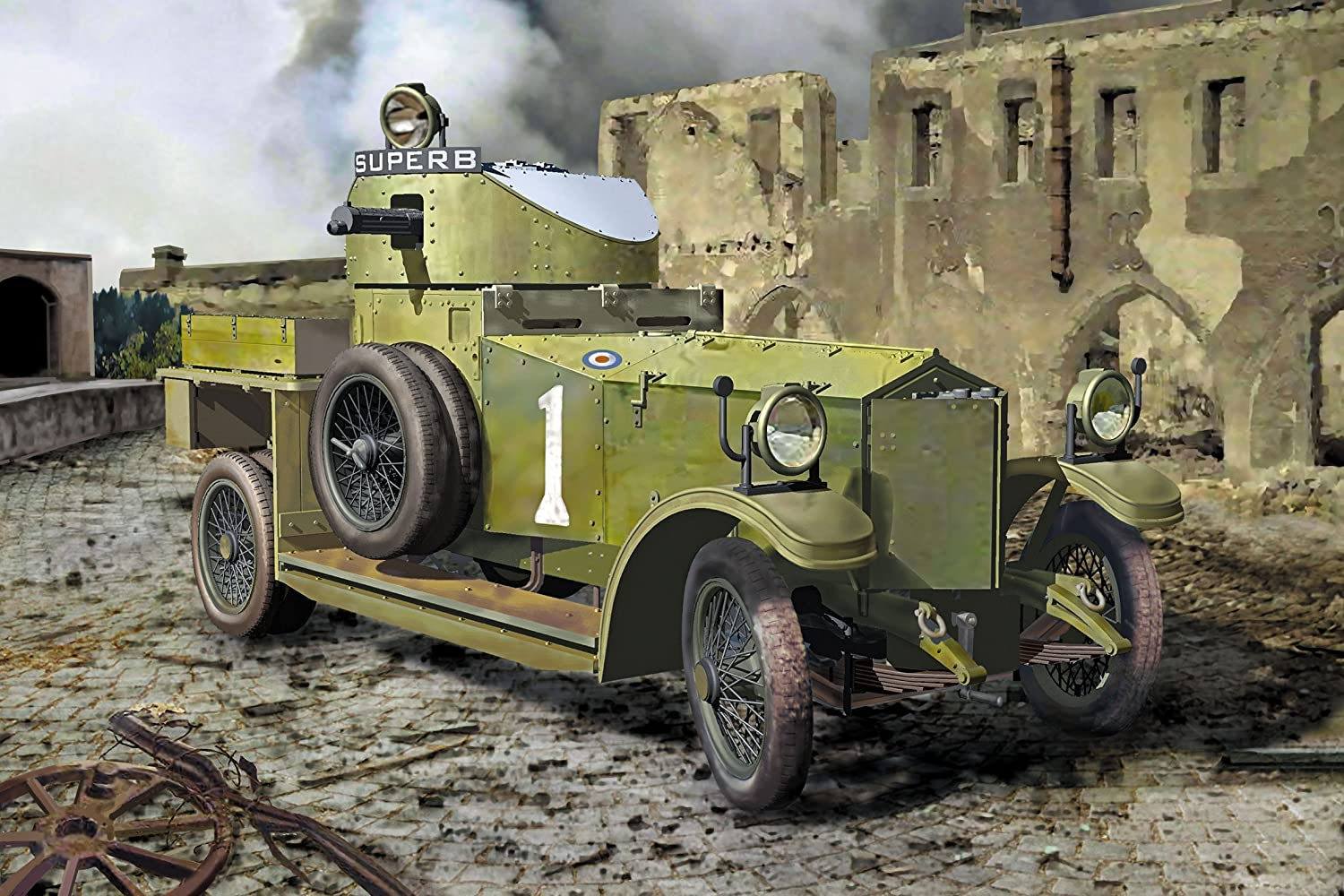 Roden 801 RR Armoured Car 1920 Pattern MkI 1914 1//35 scale plastic model kit WWI