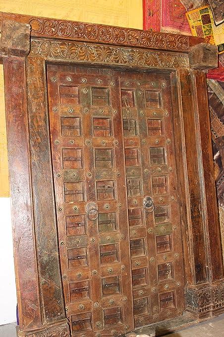 Mogul Interior Antique Haveli Indian Doors Teak Wood Hand Carved Rustic  Architecture Design Clearance Sale - Amazon.com: Mogul Interior Antique Haveli Indian Doors Teak Wood