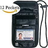 Passport Holder Travel Wallet Neck Pouch Anti-Theft RFID Blocking