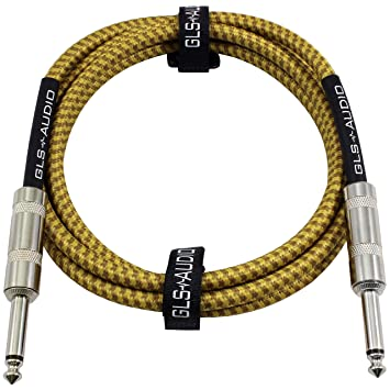 Amazon.com: GLS Audio 6 Foot Guitar Instrument Cable - 1/4 Inch TS ...