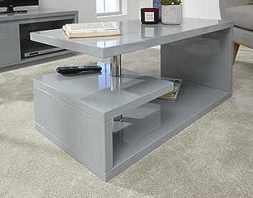 Astounding Gfw Furniture Polar High Gloss Modern Led Lit Coffee Table Side Table Tv Unit Greycoffee Table Cjindustries Chair Design For Home Cjindustriesco