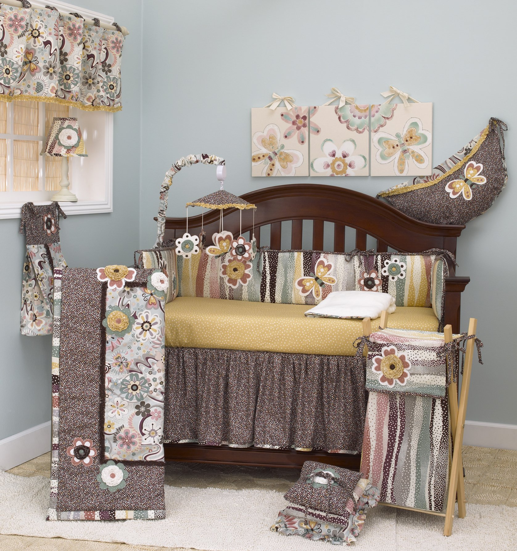 Cotton Tale Designs Penny Lane Crib Bedding Set, 8 Piece