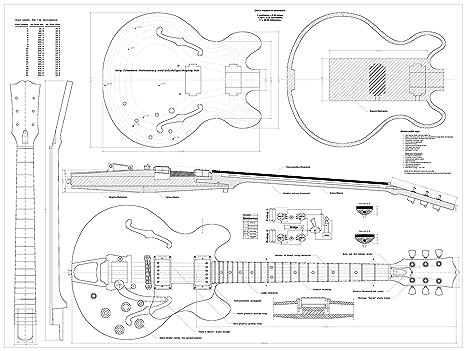 Set de 4 Gibson guitarra eléctrica Planes – ES-335, CS-356,