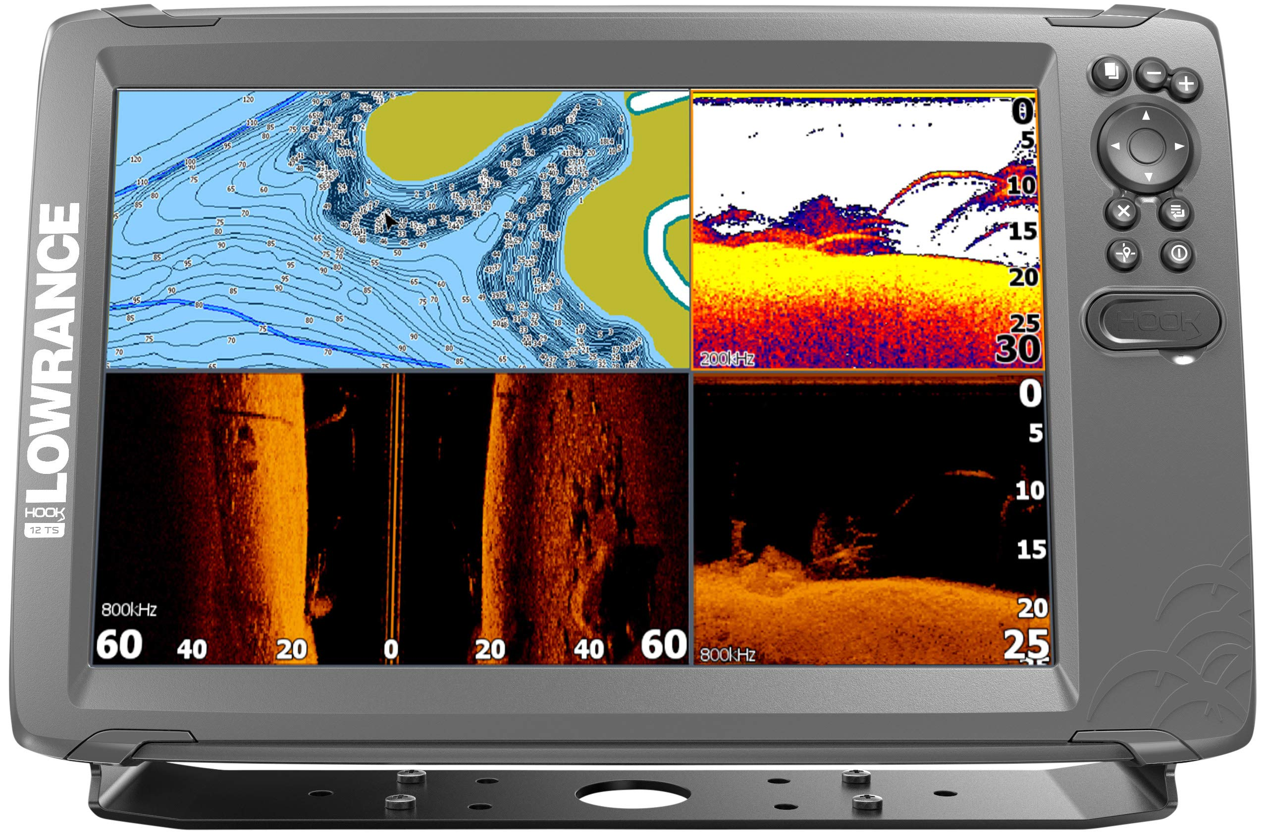 Lowrance HOOK2 12 - 12-inch Fish Finder with TripleShot Transducer and US/Canada Navionics+ Map Card …