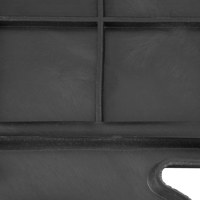 PVC Relaxdays Zerbino Tappeto da Ingresso per Esterni Nero 50 x 65 cm