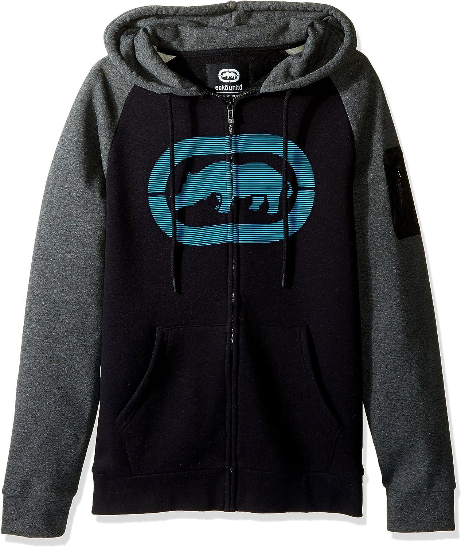 Ecko UNLTD Men's Speedy Rhino Full Zip Fleece Hood: Clothing