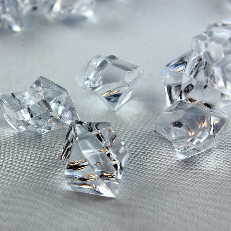 Clear Acrylic Decorative Stones–Crushed Ice 28x16mm–Bulk Pack–Table/Wedding Decoration, Acrylic, clear, 28x16mm Hamburg-Trade