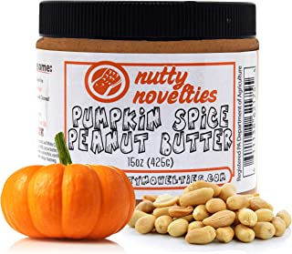 product image for Nutty Novelties Fall Special Pumpkin Spice Peanut Butter - High Protein, Low Sugar Healthy Peanut Butter - Cholesterol-Free, All-Natural Peanut Butter - Creamy Peanut Butter - 15 Ounces