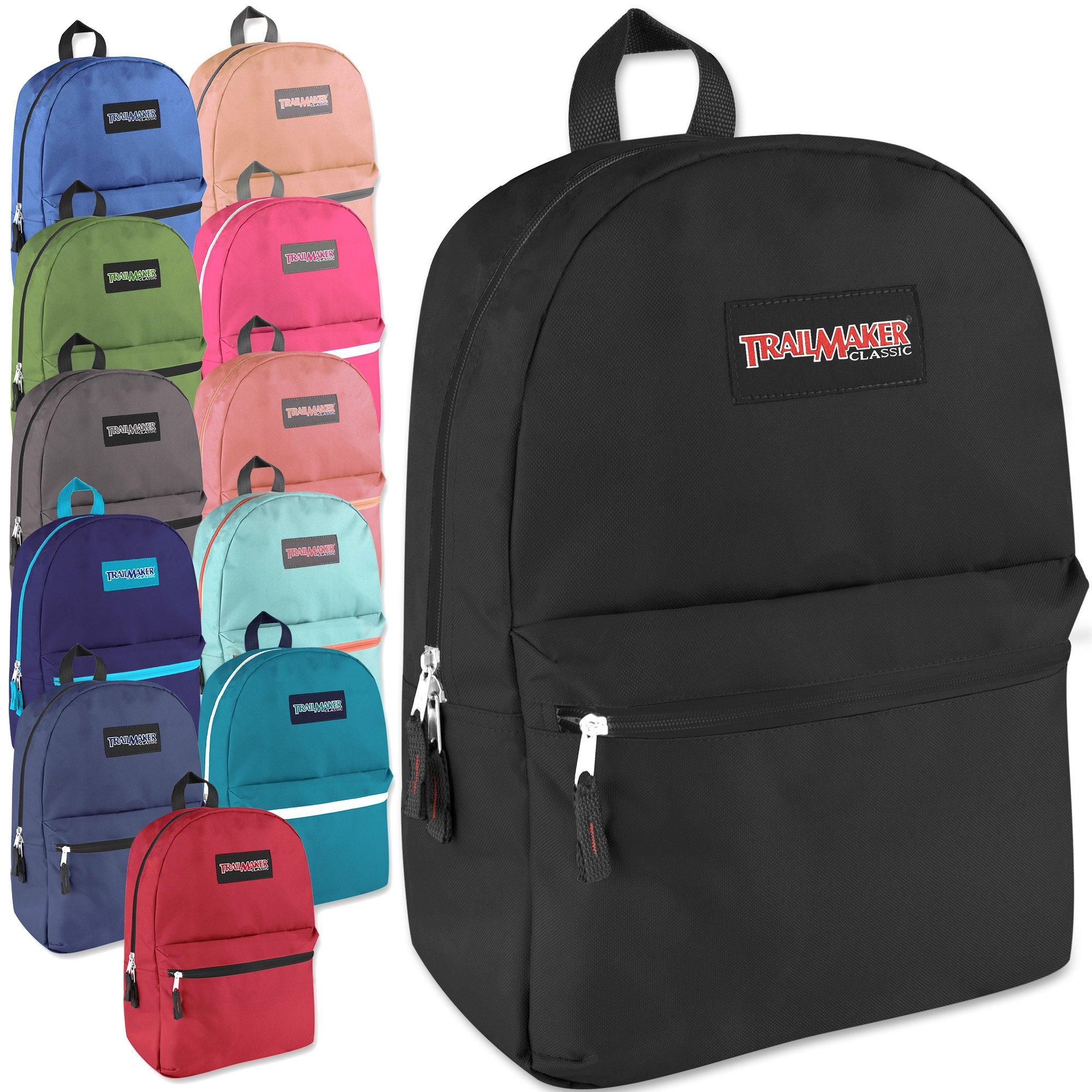 Classic 17 Inch Backpack in 12 Colors Case Pack 24 by Trailmaker
