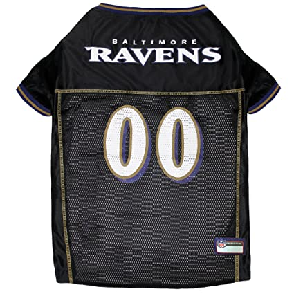 7d15a91ddb6 Amazon.com : NFL BALTIMORE RAVENS DOG Jersey, Small : Sports Fan Pet ...