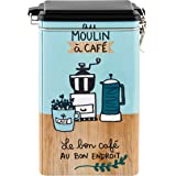 """Derrière la porte DLP: caja de almacenamiento hermético con café–Délices–""""Au–Molinillo de café en metal"""