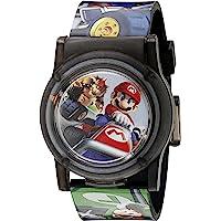 Nintendo Kids' NMK3403 Digital Display Analog Quartz Multi-Color Watch
