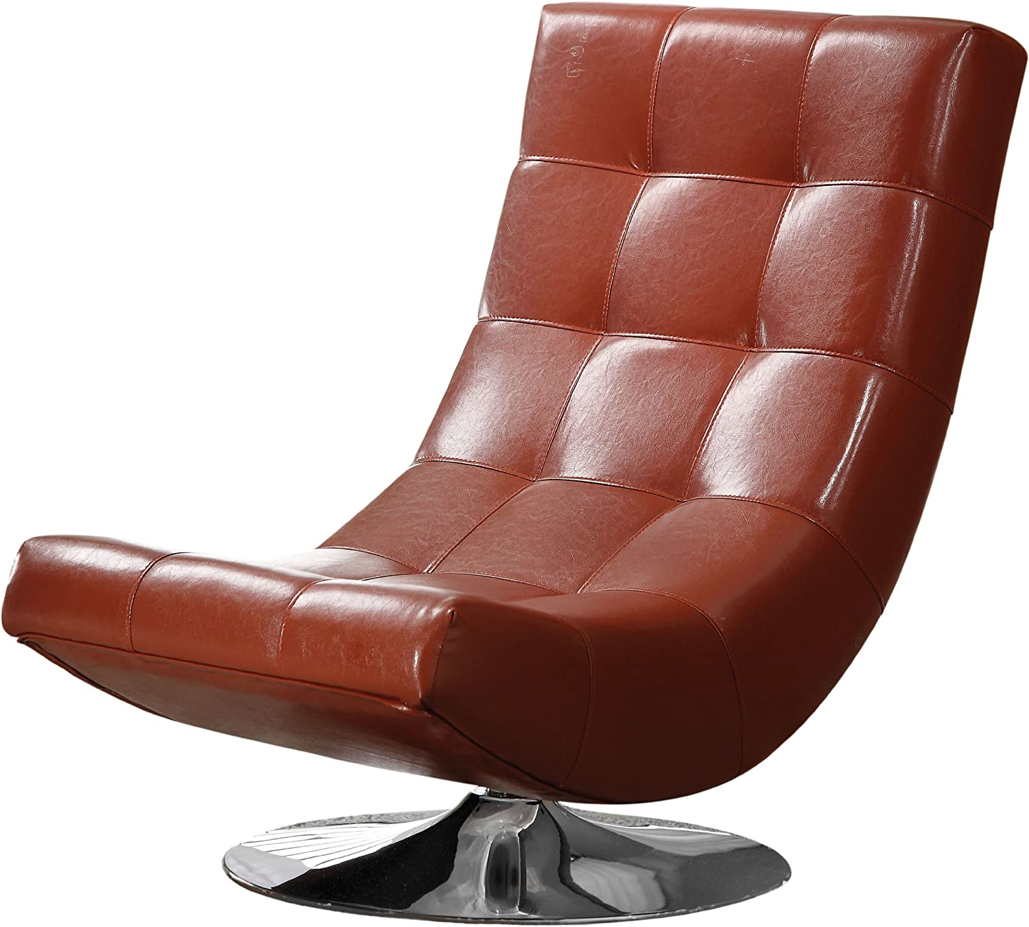 Furniture of America Trinidad Arm Chair, Mahogany Red