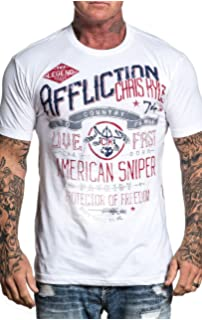 AFFLICTION Chris Kyle Overwatch A19610 New Short Sleeve Graphic T-shirt for men