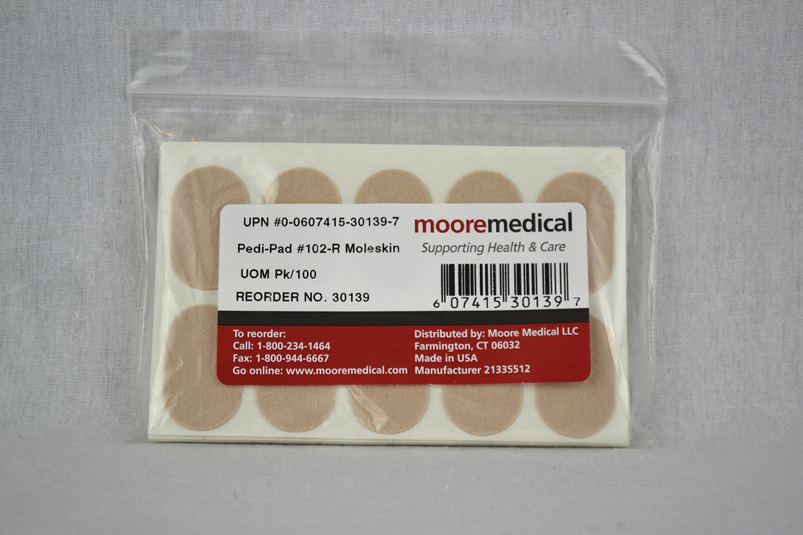 Moore Medical Pedi-pads #102 Regular Moleskin - Pkg of 100
